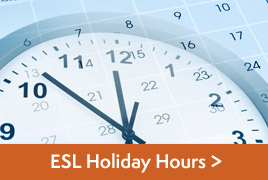 ESL Holiday Hours
